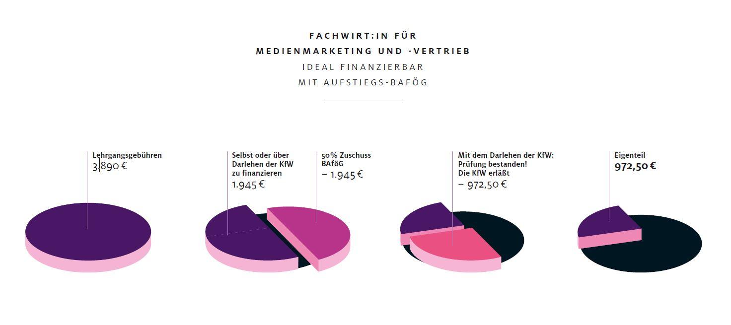 Grafik Fachwirt für Medienmarketing und -vertrieb Finanzierung